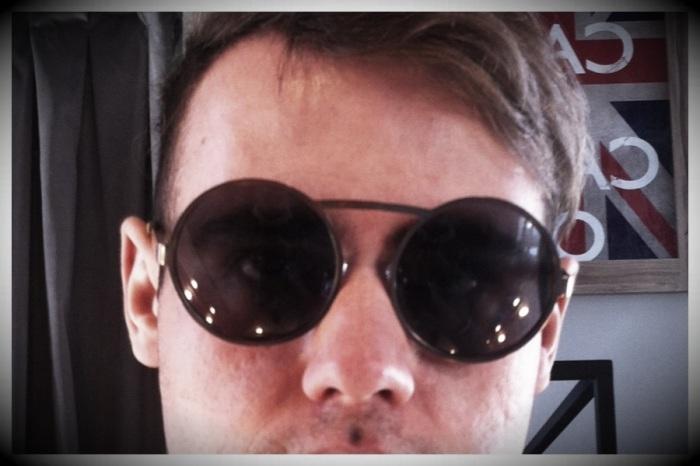 óculos redondos Alexandre Herchcovitch